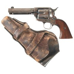 Antique Colt Single Action Army Revolver with Holster