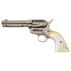 Colt Single Action Army Revolver with Pearl Grips and Factory Letter