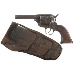 Colt Single Action Army .44 Rimfire Revolver with Holster and Factory Letter