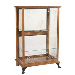 Oak and Glass Colt Display Case Cabinet