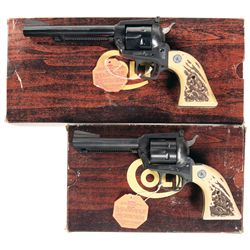 Collector's Lot of Two Boxed Colt New Frontier Single Action Revolvers