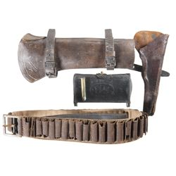 Post Civil War Leather Goods and Ammunition Belt