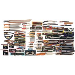 Very Large Grouping of Knives and Machetes