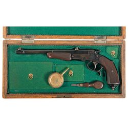Cased A.F.  Stoeger Marked German Single Shot Target Pistol