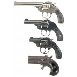 Three Double Action Revolvers and a Derringer