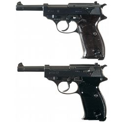 Two Walther P38 Semi-Automatic Pistols