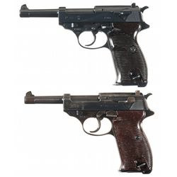 Collector's Lot of Two Walther P38 Semi-Automatic Pistols