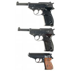 Three Nazi Proofed Semi-Automatic Pistols