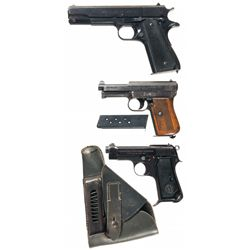 Three Foreign Semi-Automatic Pistols