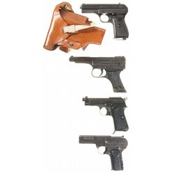 Four Semi-Automatic Pistols