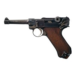 DWM 1918 Dated Luger Semi Automatic Pistol