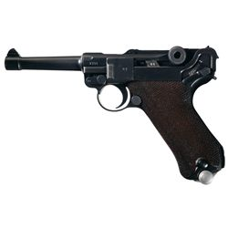 "Mauser ""S/42"" Code 1938 Dated Luger Semi-Automatic Pistol"