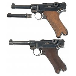 Two Luger Semi-Automatic Pistols