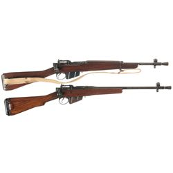 Two Enfield No. 5 MK I Bolt Action Carbines