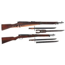 Two Japanese Bolt Action Longarms