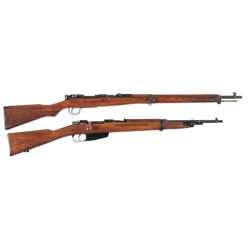 Two WWII Bolt Action Rifles