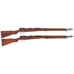 Two Japanese Type 99 Bolt Action Rifles