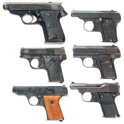 Collector's Lot of Six Semi-Automatic Pistols