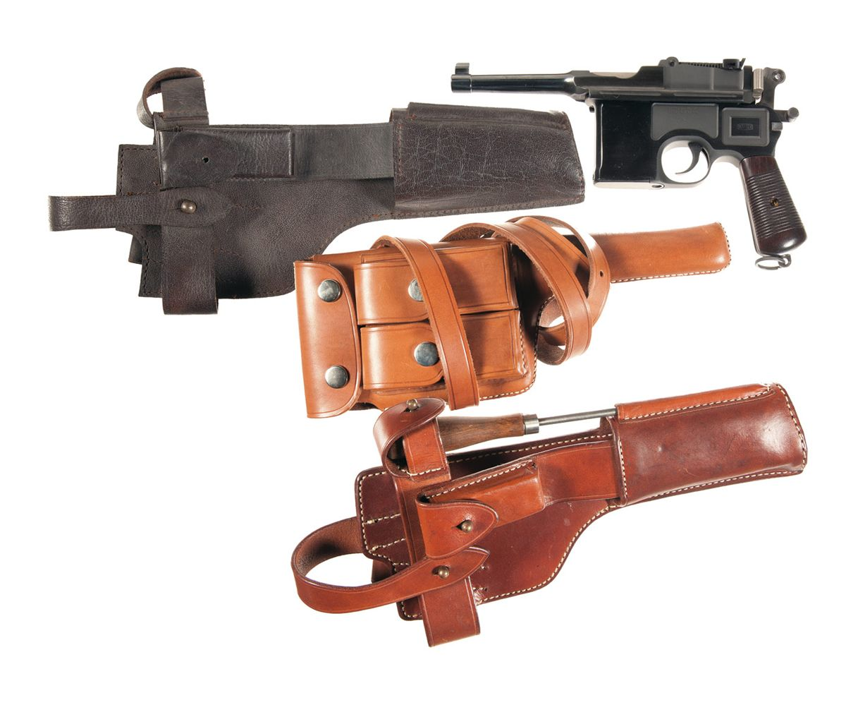 Two German Pistols -A) Mauser Model 1930 Broomhandle Semi ...