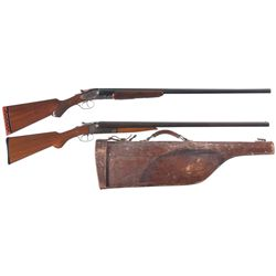 Two Side by Side Hammerless Shotguns