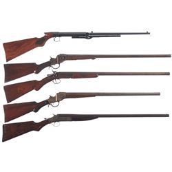 One Air Rifle and Four Shotguns