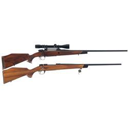 Two Bolt Action Rifles A) Mauser Model 3000 Magnum Rifle with Scope