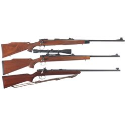 Three Remington Bolt Action Rifles