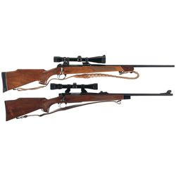 Two Scoped Bolt Action Sporting Rifles