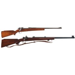 Two Custom Bolt Action Rifles