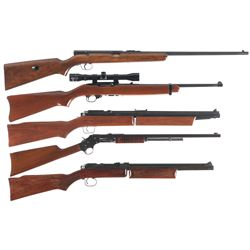 Three Rifles and Two Pellet Rifles