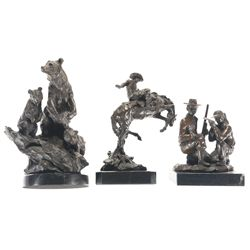 Three Signed Bronze Sculptures