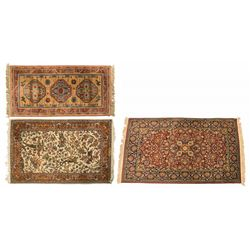 Three Persian Style Rugs