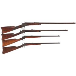 Four Remington Rolling Block Rifles