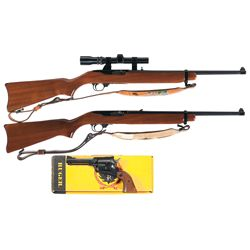 Two Ruger Carbines and One Ruger Revolver
