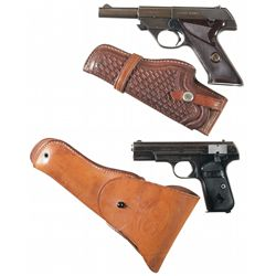 Two Semi-Automatic Pistols with Holsters