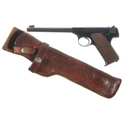 Colt Woodsman Semi-Automatic Pistol with Leather Holster