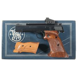 Smith & Wesson Model 41 Semi-Automatic Pistol with Red Dot Sight Extra Magazine and Box