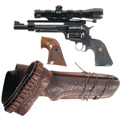 Ruger Super Blackhawk Single Action Revolver with Case Scope and Holster