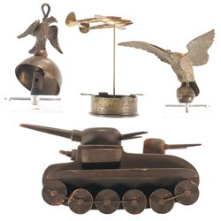 Tank Model, Two Eagles and Trench Art Ashtray