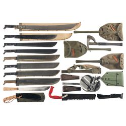 Grouping of Machetes, Hatchets and Entrenching Tools