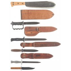 Five Martial/Fighting Knives