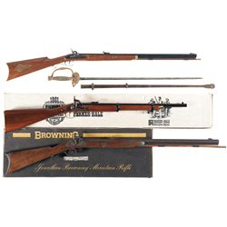 Three Percussion Rifles with Sword and 5 Bayonets