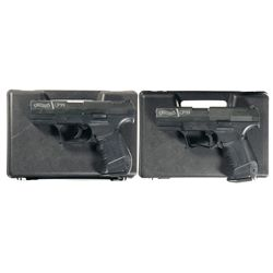 Two Consecutively Serialized Cased Walther CP99 Air Pellet Pistols