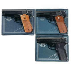 Three Smith & Wesson Semi-Automatic Pistols with Original Boxes