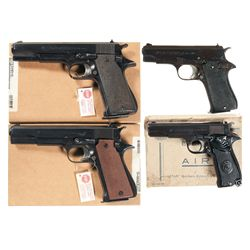 Four Boxed Star Semi-Automatic Pistols