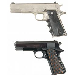 Two Colt Semi-Automatic Pistols