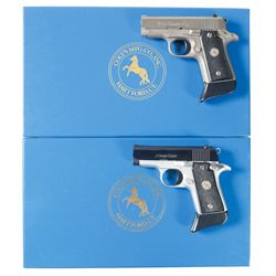 Two Boxed Colt Subcompact Semi-Automatic Pistols