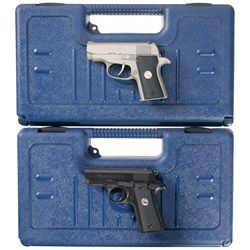 Two Colt Semi-Automatic Compact .380 Pistols with Cases