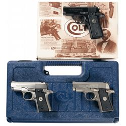 Collector's Lot of Three Colt Mustang Semi-Automatic Pistols