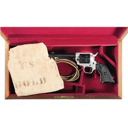 Colt Single Action Frontier Scout Revolver with Case and U.S. Gold Bag